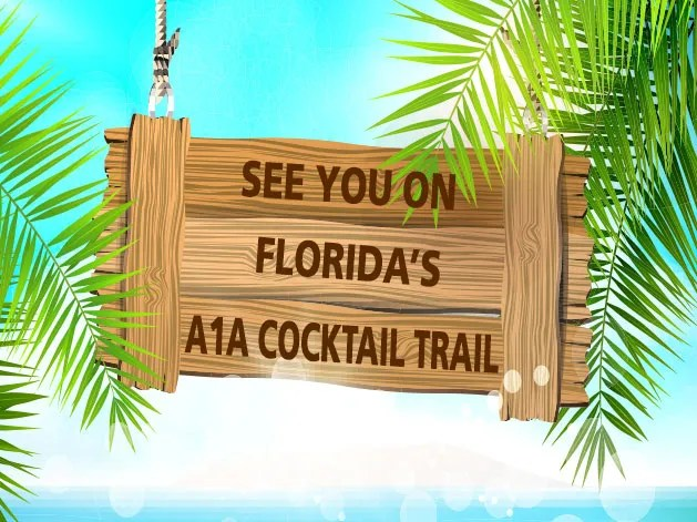 North Florida's A1A Cocktail Trail features tropical cocktails made with Florida citrus and spirits from St. Augustine Distillery.