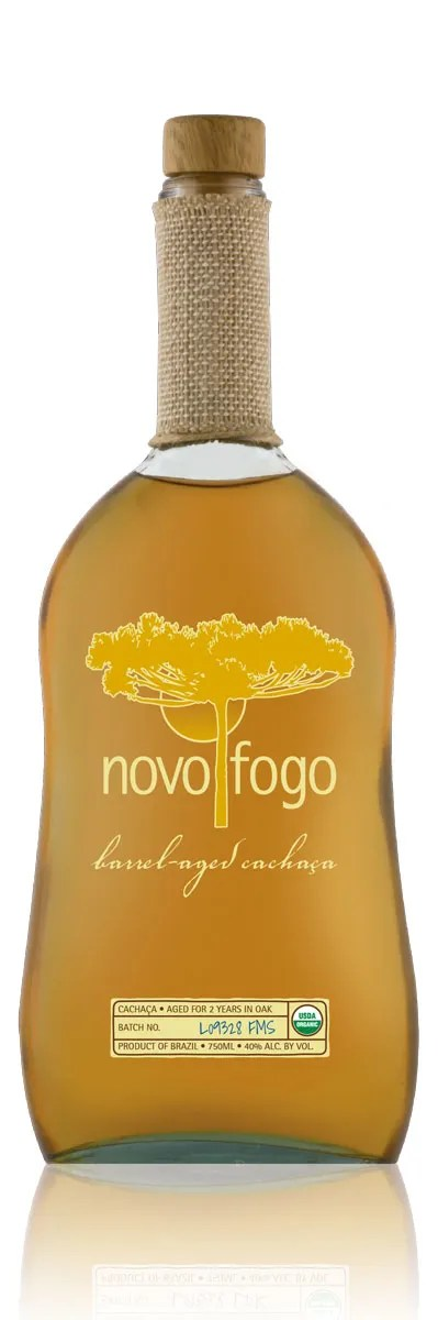 A fine aged spirit from Brazil, Novo Fogo Barrel-Aged Cachaça is bottled at 40% abv.