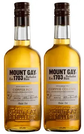 Origin Series, Copper Stills, Mount Gay rum from Barbados