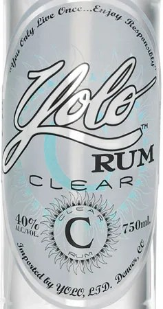 Yolo Rum Clear label