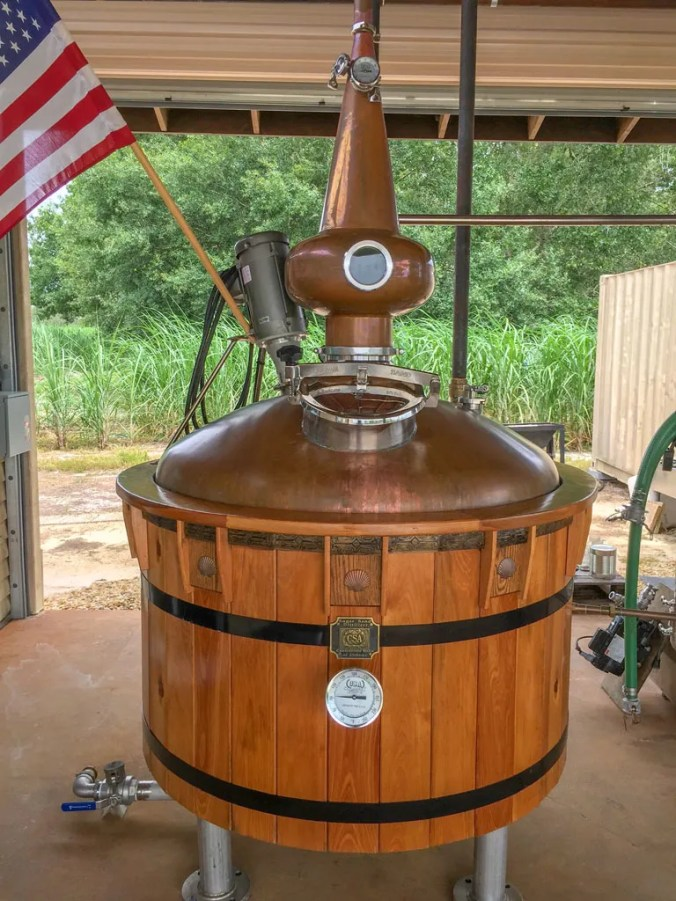 Sugar Sand Distillery Wooden Copper Pot Still
