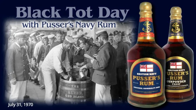 Pusser's Navy Rum on Black Tot Day