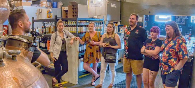 Saturday tours at Maggie's Farm Rum Distillery