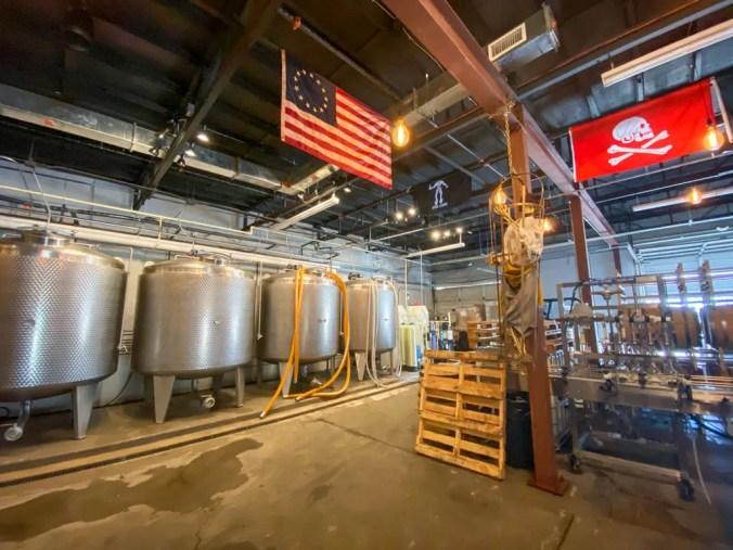 fermentation tanks at Tampa Bay Rum Company