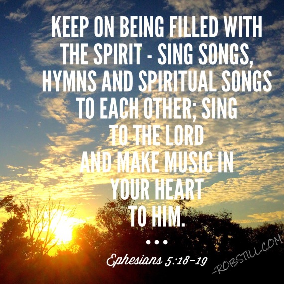 Image result for picture Ephesians 5:18-19