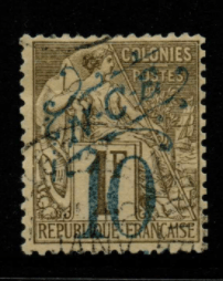French Cols-New Caledonia SG 49 fine used