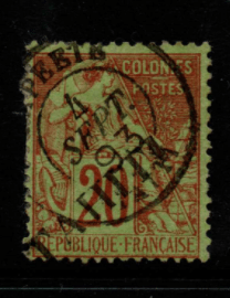 French Cols-Tahiti SG 13 fine used