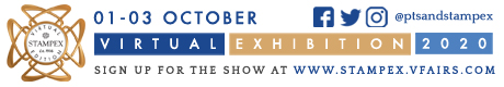 Robstine Stamps will be attending Virtual Stampex, don't forget to save the date and join us online from 1-3rd October. Online Registration is OPEN from 1st August! stampex.vfairs.com #stampex #lookfortheshield @theptsandstampex