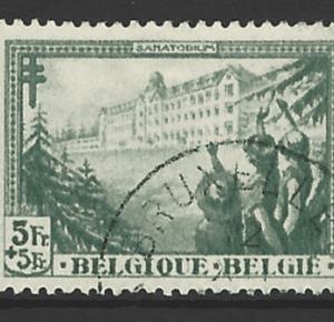 Belgium SG 630, the 1932 Anti TB 5f+5, fine used.