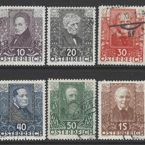 Austria SG 672-677, fine used stamps