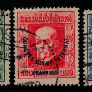 Czechoslovakia, SG 246-248, Fine Used,