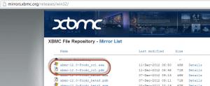 XBMC Frodo RC1