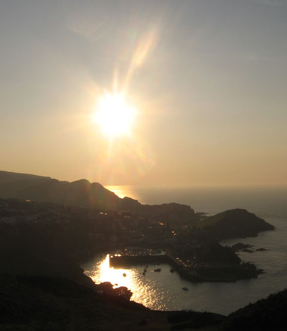 September sunset over Ilfracombe