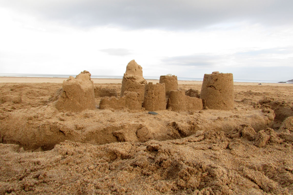 Sand castle | robzlog.co.uk @robertz