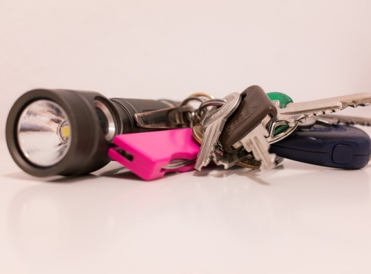 Flashlight with keys