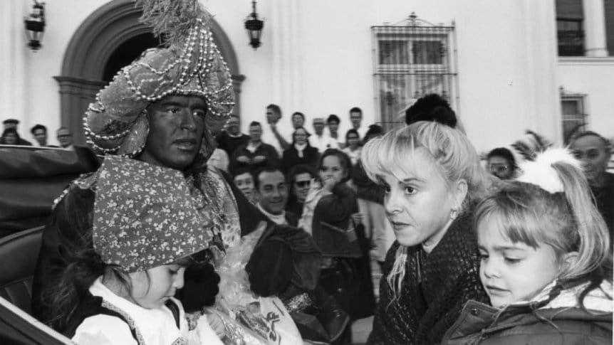 Reyes Magos: el día que Maradona quiso ser el negro Baltasar en repudio al racismo