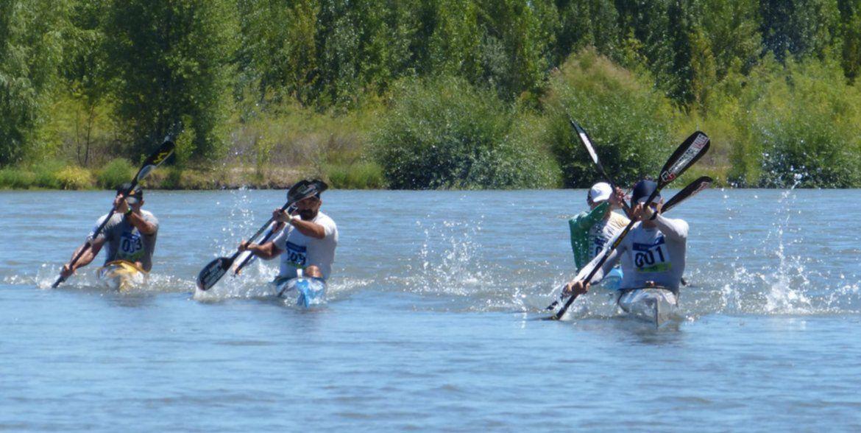 Contrarreloj para los K2 senior: cuarta etapa de la Regata del río Negro
