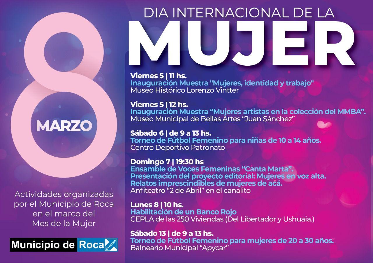 8M: el Municipio de Roca planifica varias actividades