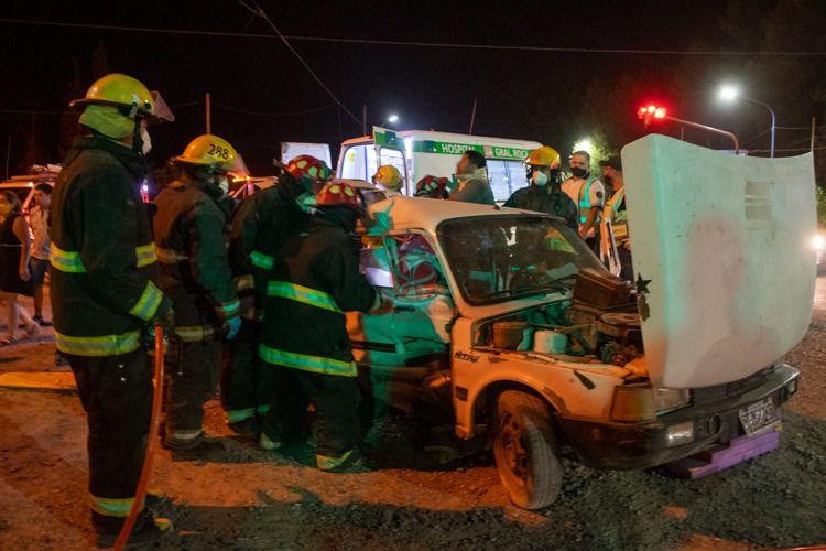 Choque en Ruta 22 y Vinter: El menor de 3 años fue trasladado a un sanatorio privado por lesiones graves