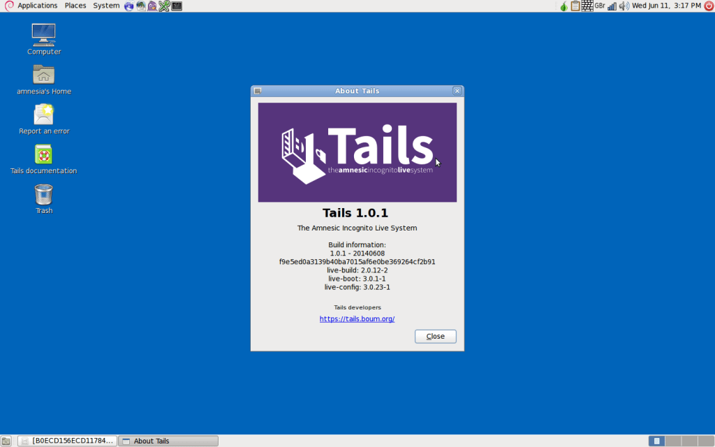 Tails OS Live
