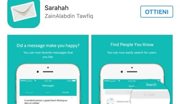 Sarahah App, privacy, cyberbullismo,