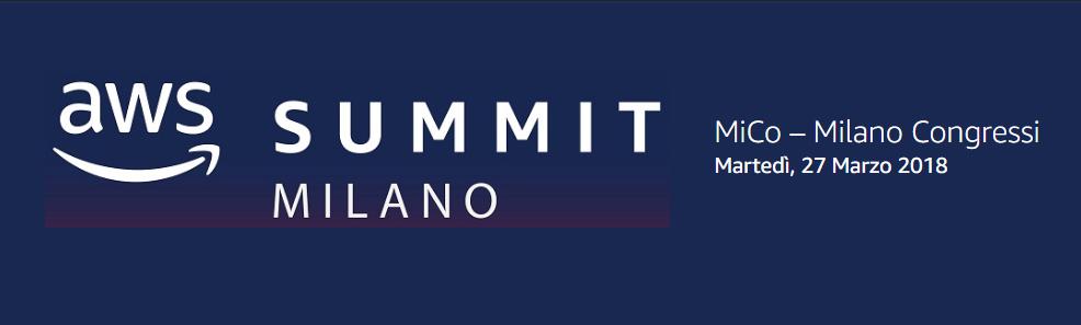 Amazon Web Services Summit 2018 - Evento dedicato al Cloud AWS 2