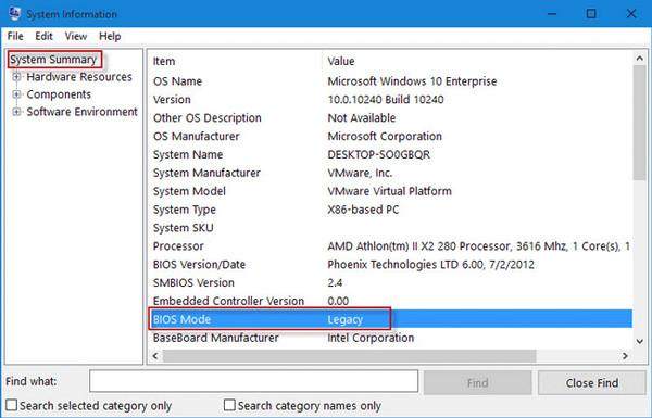 Boot UEFI, Legacy BIOS,