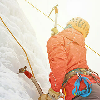 Ice climbing discovery with Roc et Glace