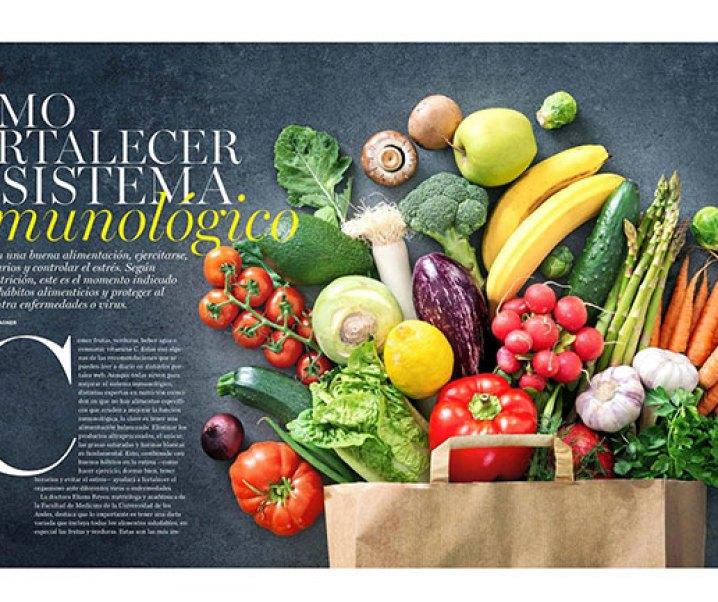 """Interesante artículo sobre alimentación y el refuerzo del sistema inmunológico publicado por la revista """"Ya"""" de El Mercurio del 7 de abril de 2020"""