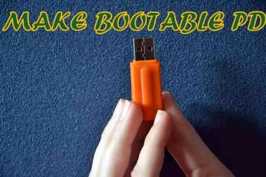 MAKE BOOTABLE PD
