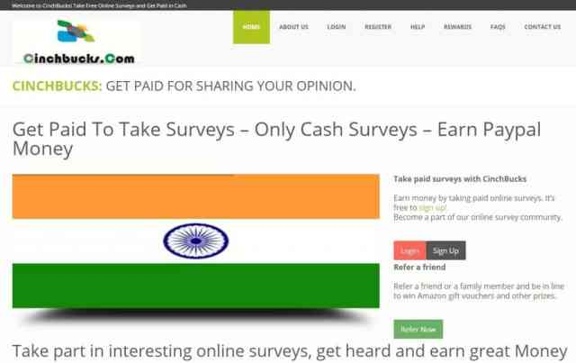 Make money online by Chinchbucks