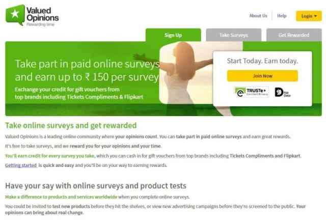 Make money online by ValuedOpinion
