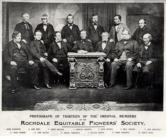 The Rochdale Equitable Pioneers Society opened on 21 December 1844