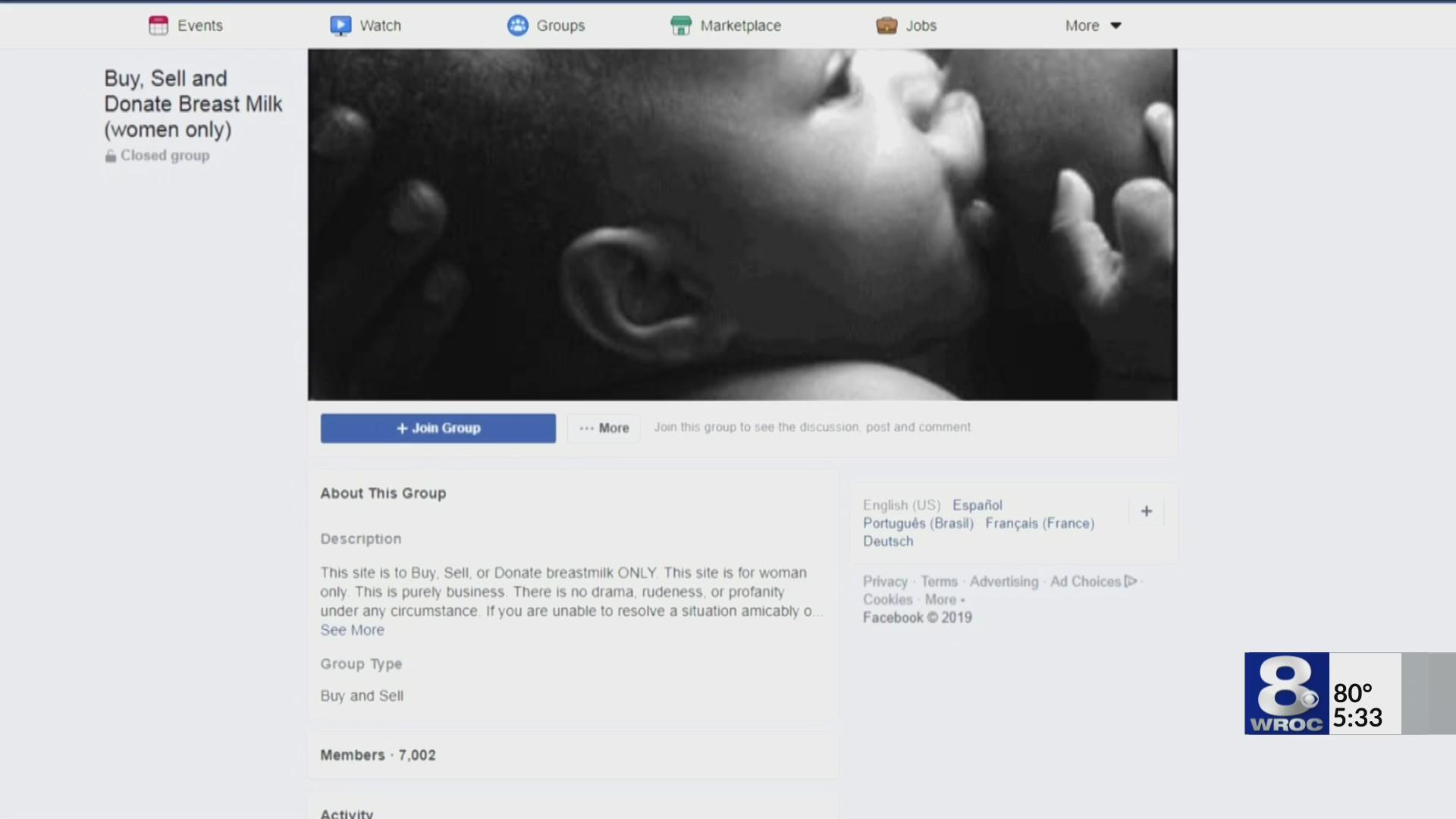 Doctors warn against buying breast milk on Facebook
