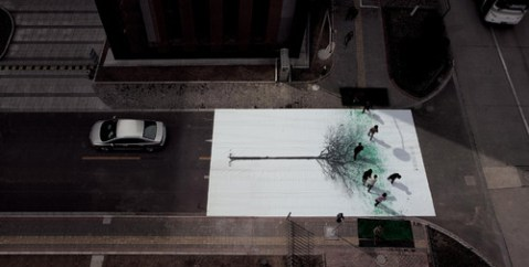 Green Pedestrian Crossing created by Jody Xiong of DDB China. [Via: Moiety]