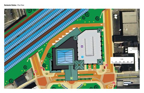 Plan view of facility (close up).