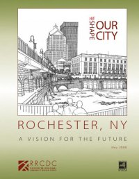 'A Vision for the Future' is a community-based vision plan for downtown Rochester. It was developed and presented to the City of Rochester in 2007/2008 by the Rochester Regional Community Design Center. The plan outlines a detailed improvement plan for Main Street that includes a heritage streetcar line.