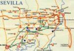 Plano de Caminos de Sevilla