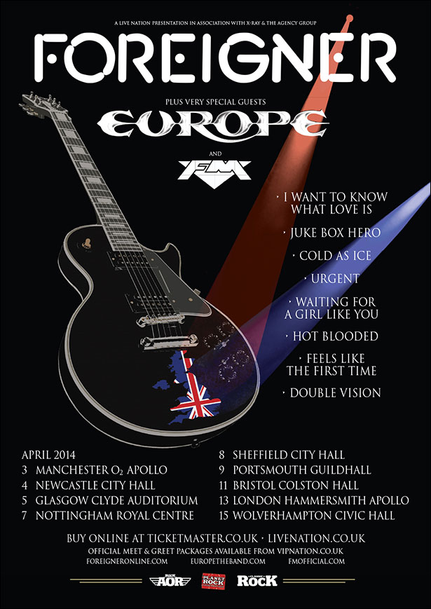 Foreigner tour