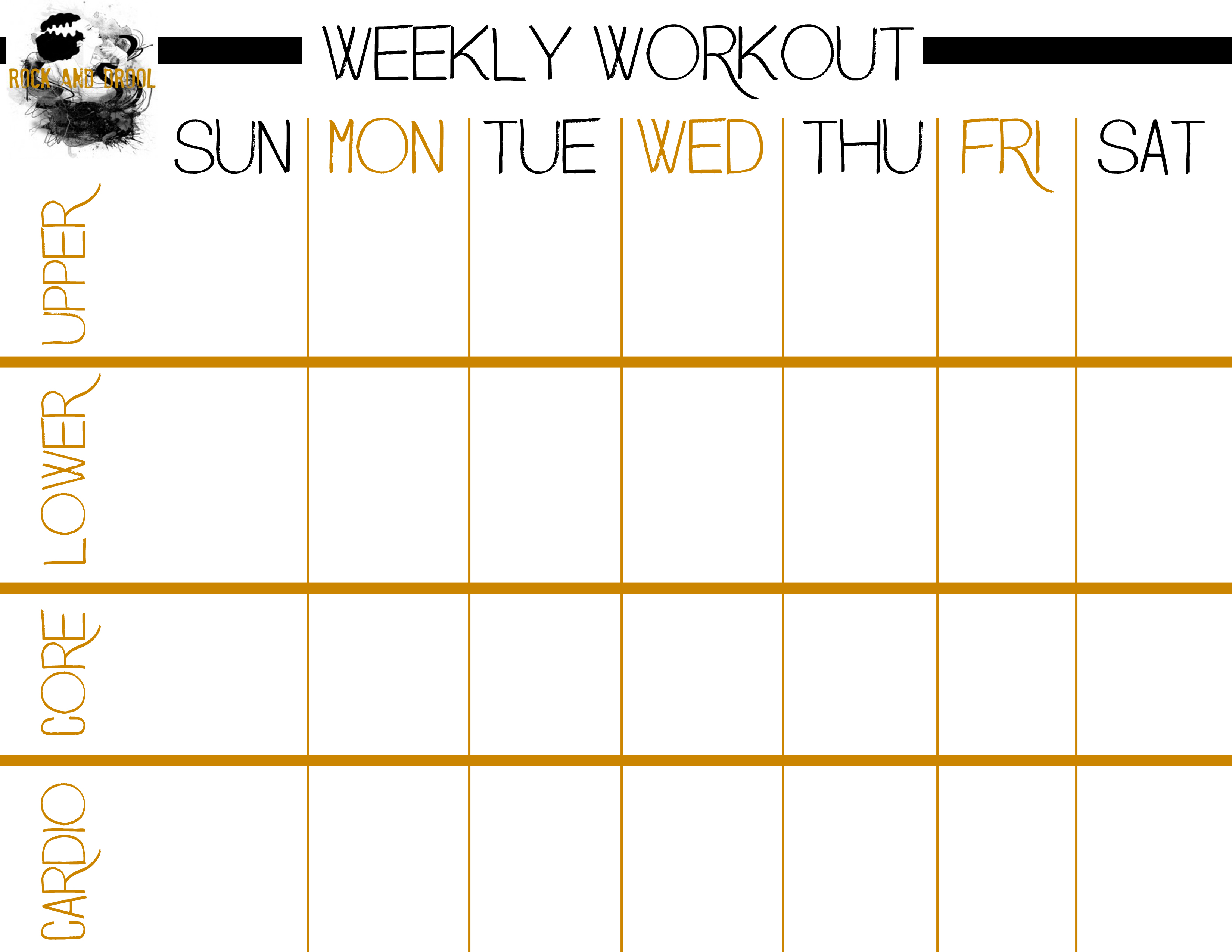 photograph relating to Printable Workout Sheet known as Simple Finish System Work out Furthermore Free of charge Printable Work out Sheet