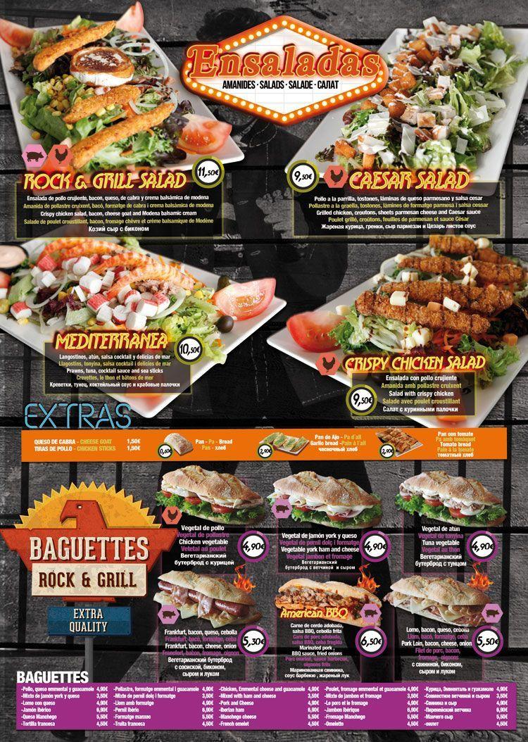 Restaurante Salou RockGrill ensaladas