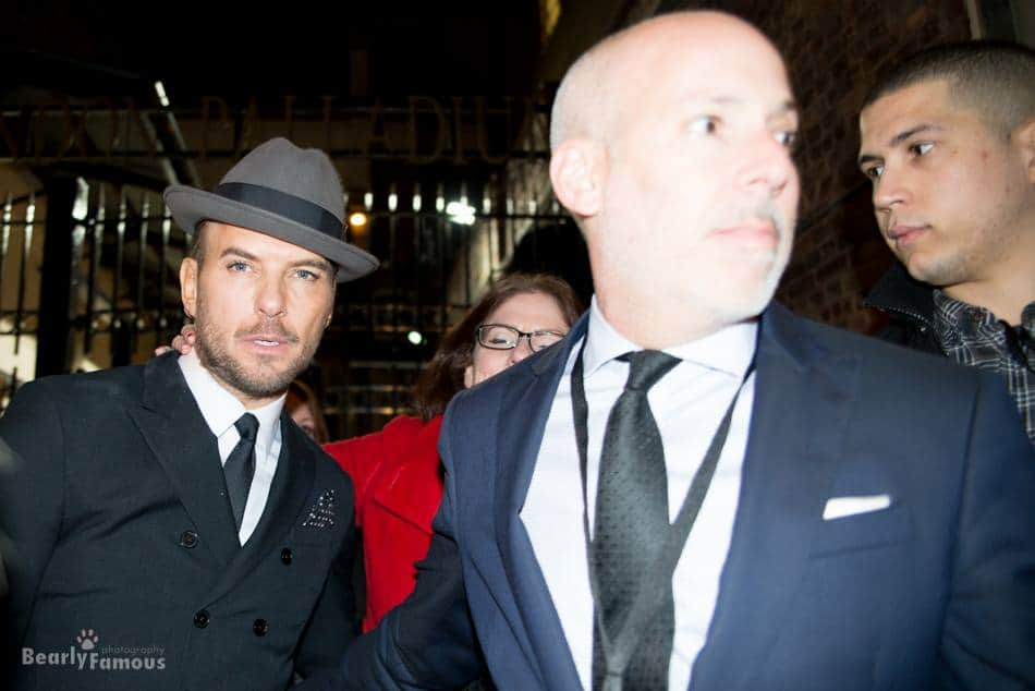 Matt Goss signing autographs outside of The Palladium, London