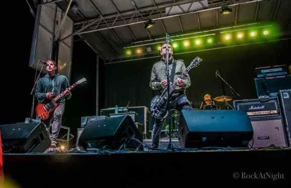Chris Head, Justin Sane, and Pat Thetic of Anti-Flag