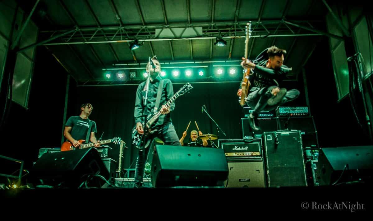 Chris Head, Justin Sane, Pat Thetic, and Chris Barker of Anti-Flag