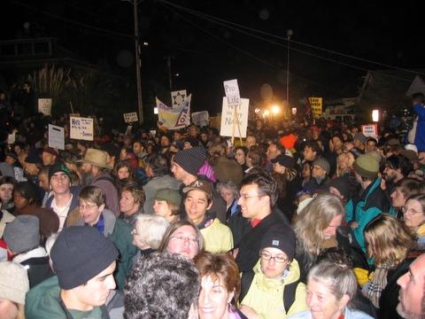 San Quentin State Prison Protest