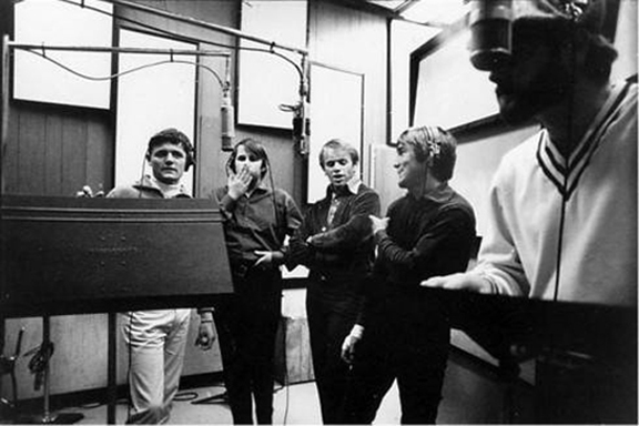 Beach Boys - Bruce Johnston, Carl Wilson, Al Jardine, Dennis Wilson, Mike Love Pet Sounds session 1966