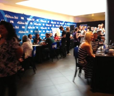 American Idol Radio Round Table Press Area