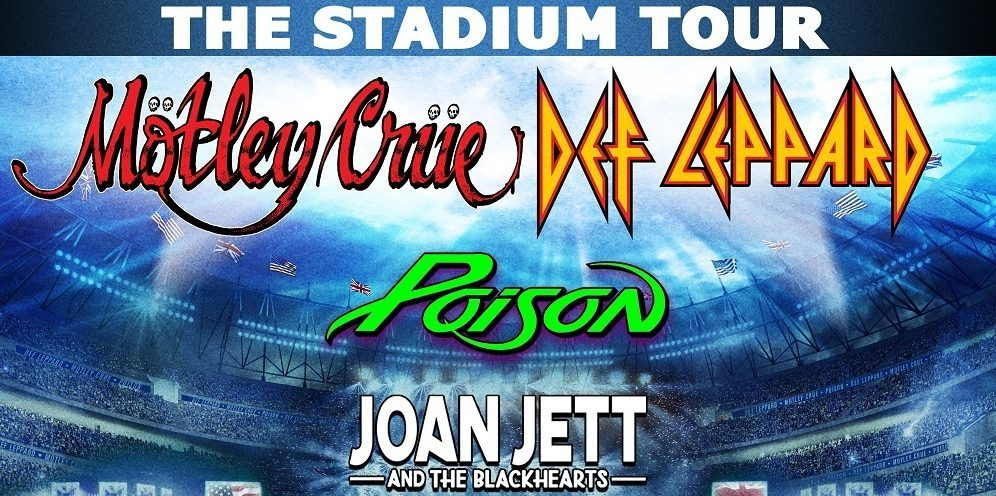 motley crue def leppard poison and joan jett and the blackhearts announce stadium tour. Black Bedroom Furniture Sets. Home Design Ideas