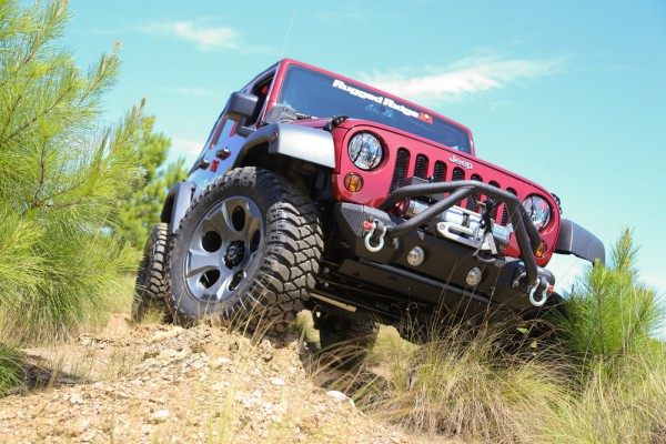 Rugged Ridge Drakon Wheel Installed on JK Jeep Wranger - Front Passenger 3q