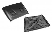 Rugged Ridge Performance Vented Hood - Product Image Only